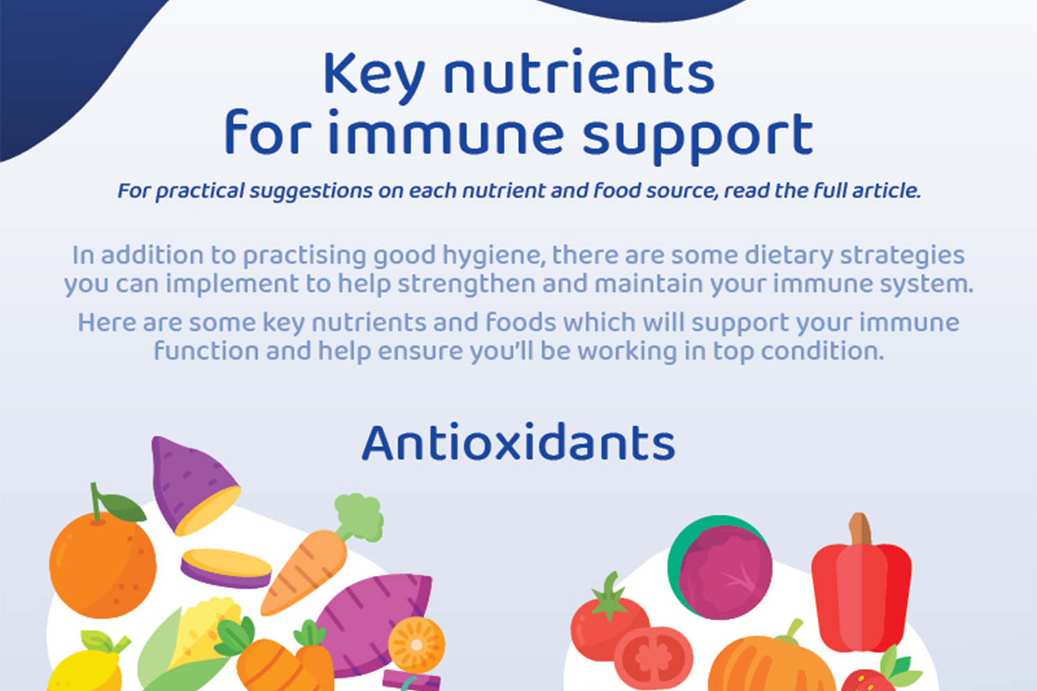 Key nutrients for immune support Image