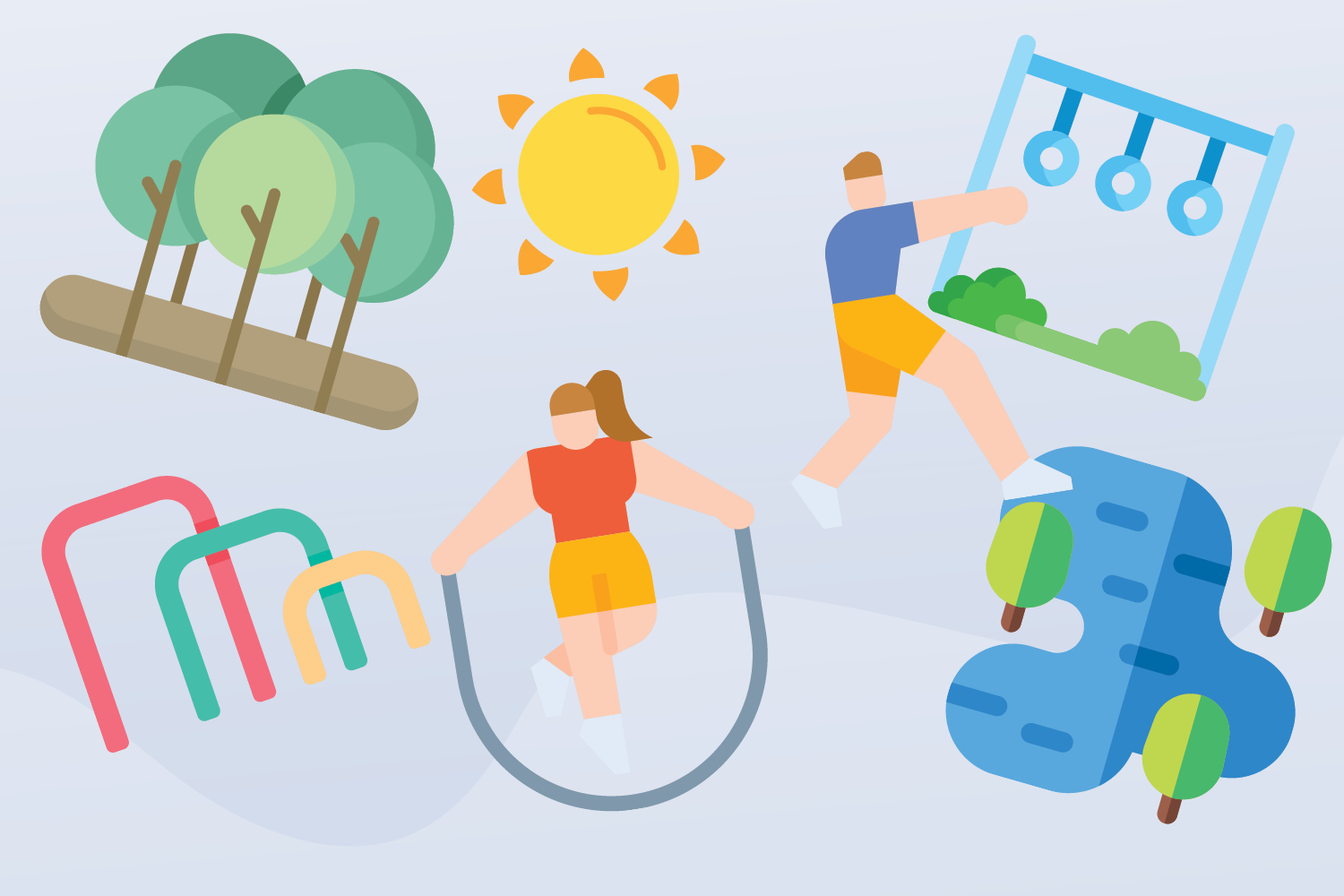 Five benefits of using outdoor gyms Image